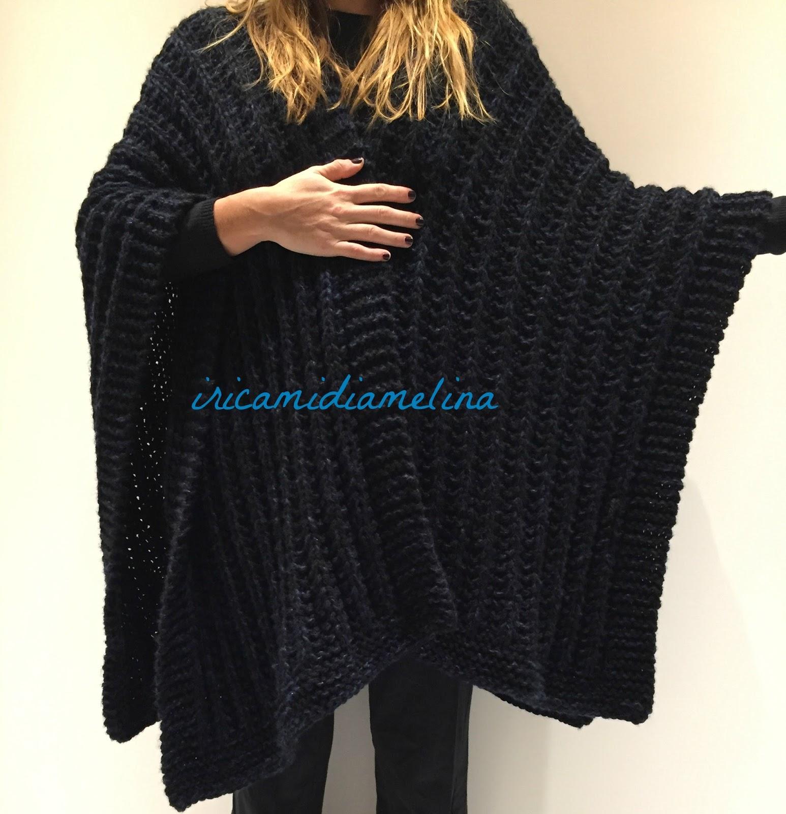 Molto iricamidiamelina: Mantella o cappa di lana ai ferri - schema - TS67