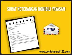 Contoh Surat Keterangan Domisili Yayasan Contoh Surat