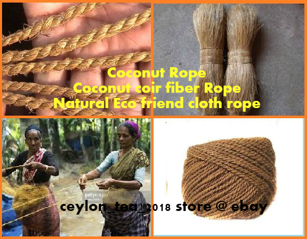 Coconut Rope Natural Echo Friendly Fiber clothe line vine 10 ft   support Parrot Toy
