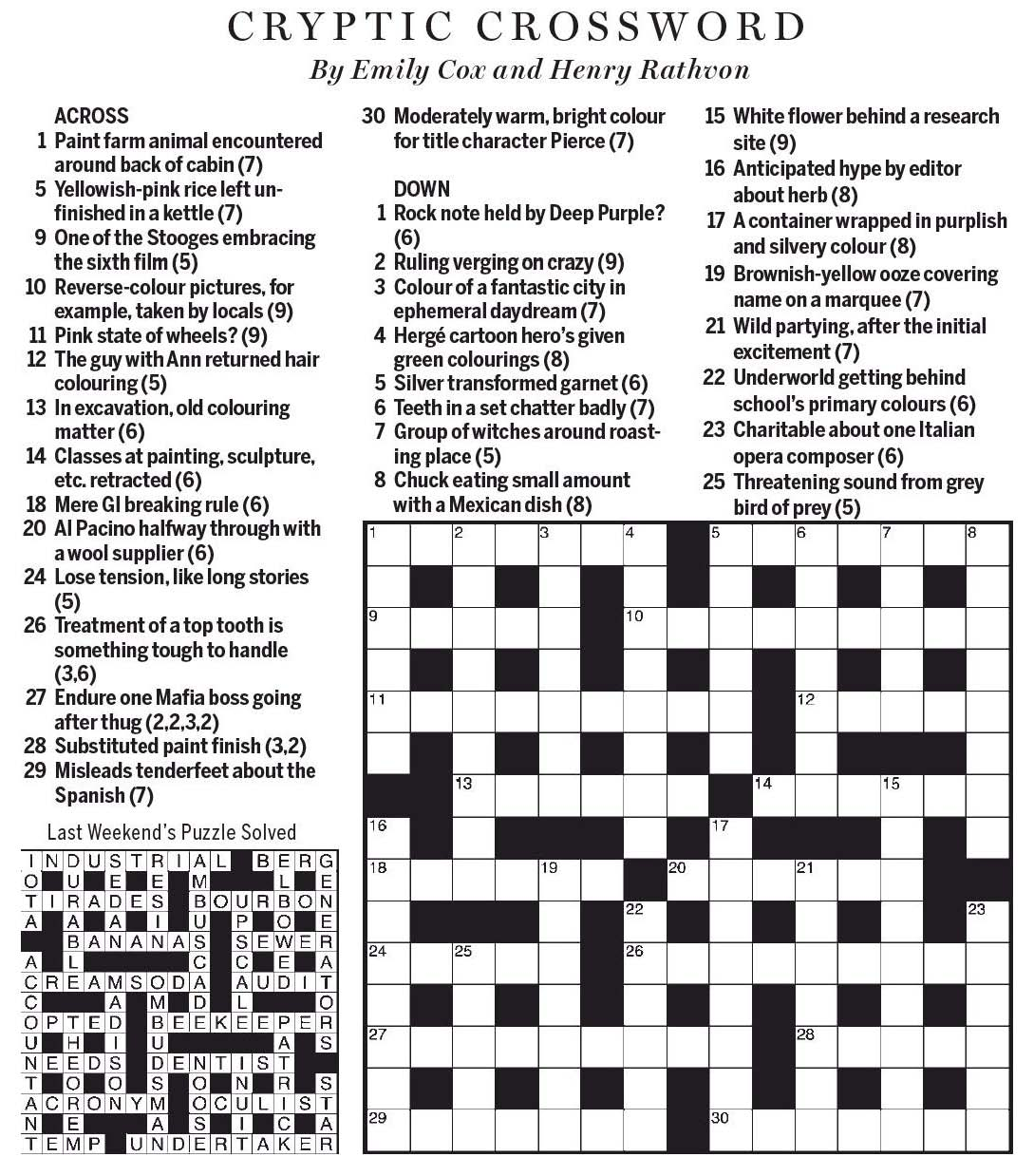 Introduction  sc 1 st  National Post Cryptic Crossword Forum & National Post Cryptic Crossword Forum: Saturday July 29 2017 ... 25forcollege.com