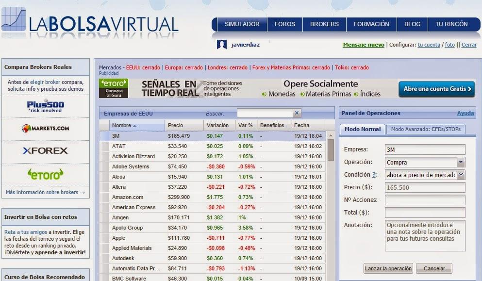 En Para La Invertir Virtual Acciones Simulador Un Bolsa Aprender A n88wrI