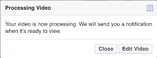 Processing video alert window
