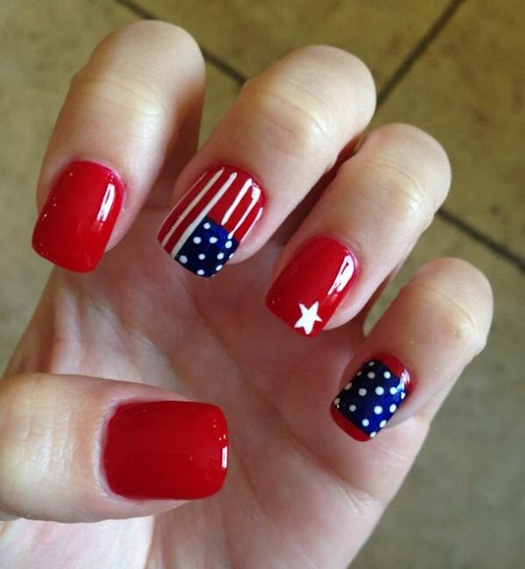 4th Of July 2017 Nail Polish Designs, Arts, Stickers, Decals, Wraps Ideas Images
