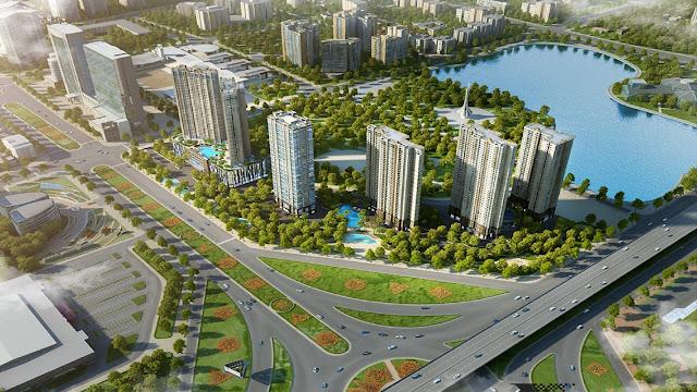 Phối cảnh dự án chung cư Dcapitale Trần Duy Hưng