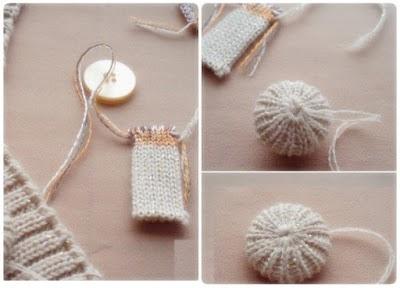 Forrar Botones con Trozos de Crochet