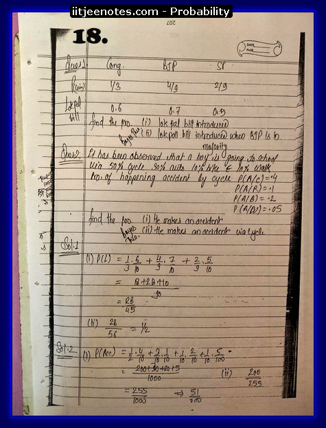 probability notes cbse8