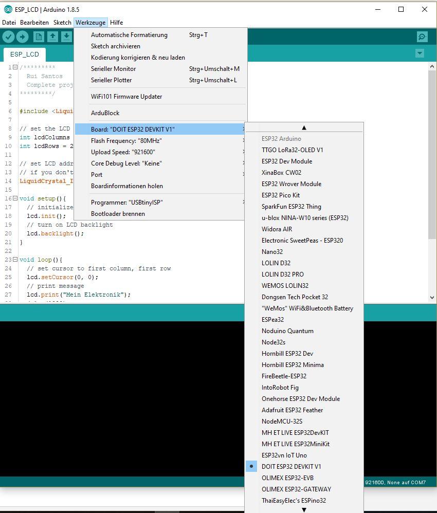 Mein Elektronik Hobby: Arduino kurz gefasst - ESP32 und