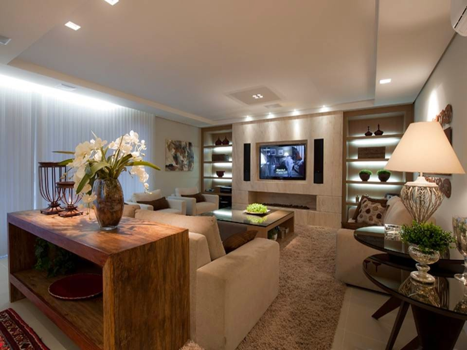 Pretty Brown and Beige Living Room