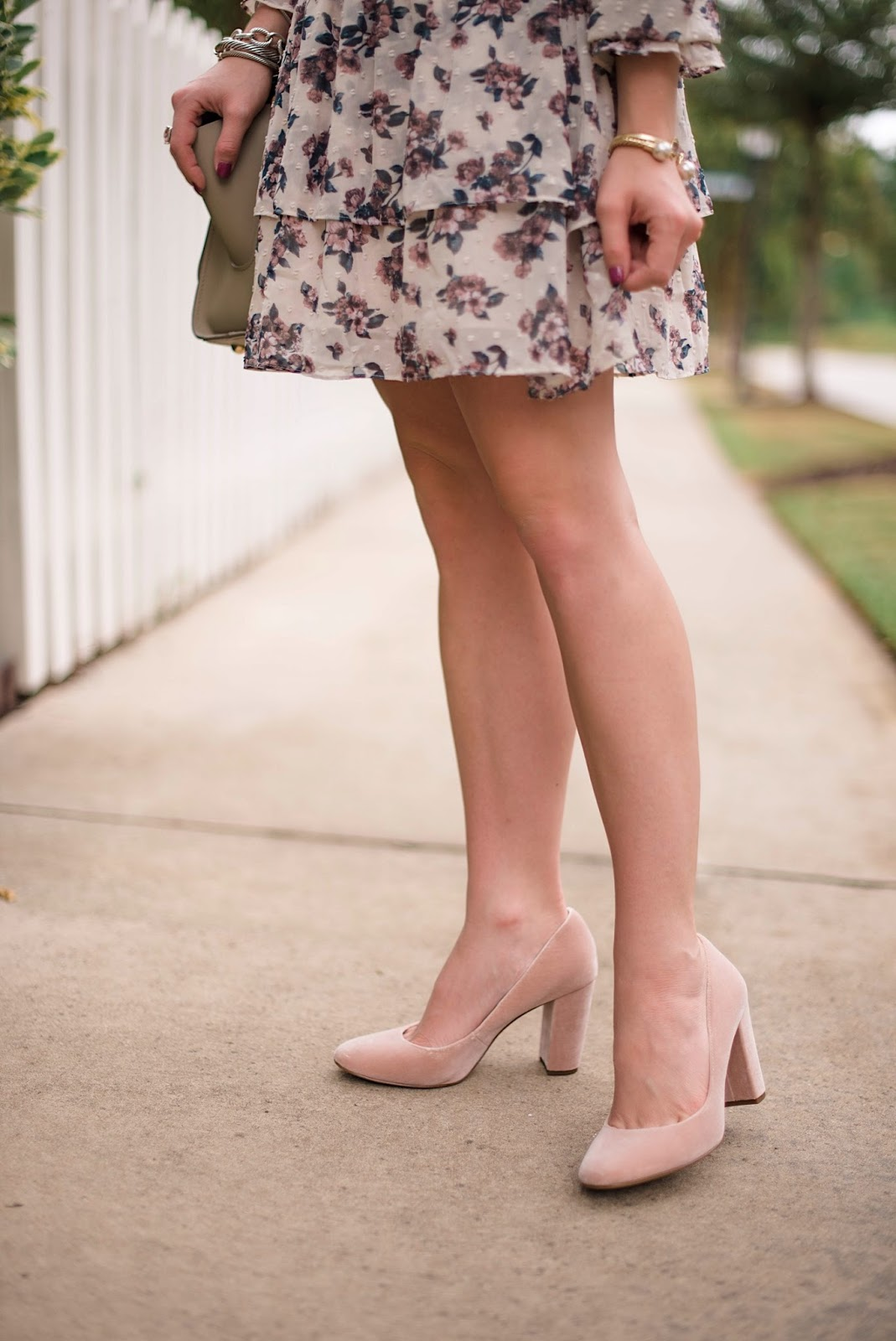 Velvet Pumps - Something Delightful Blog