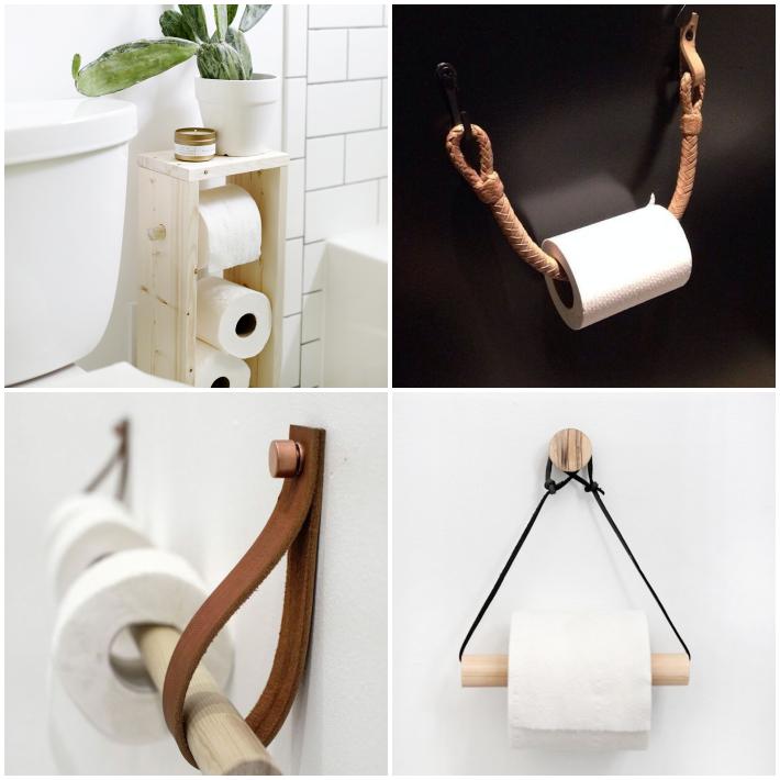 4 diy para crear portarrolllos de diseño para el baño