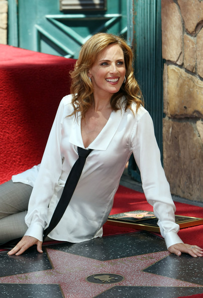 Marlee Matlin with her star at the Walk of Fame