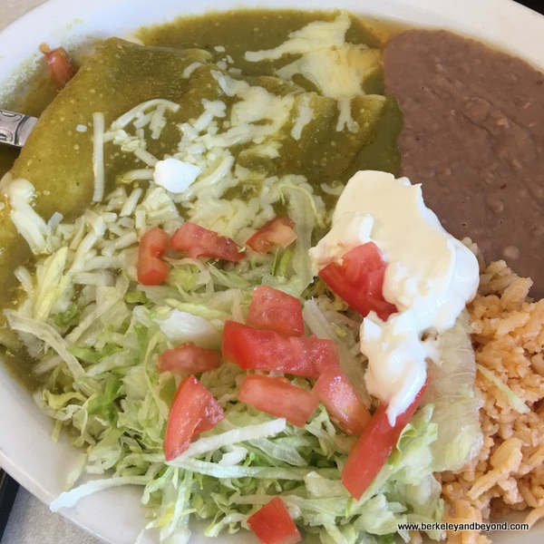 enchilada verde at Taco la Gardenia in San Antonio, Texas