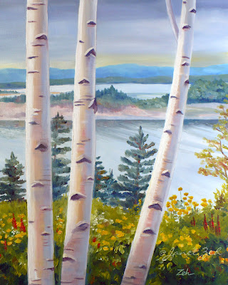 Birches in Nova Scotia print