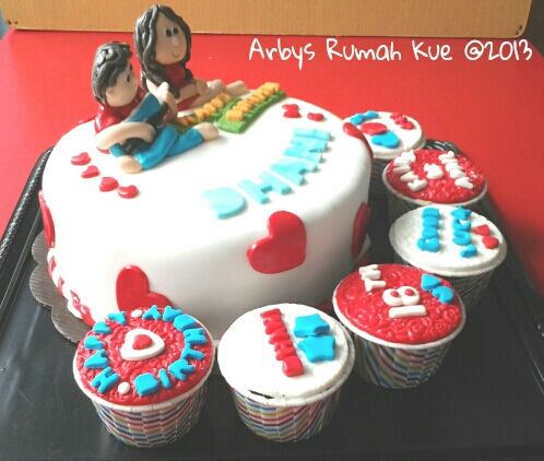 Arby S Rumah Kue Couples Bday Cake