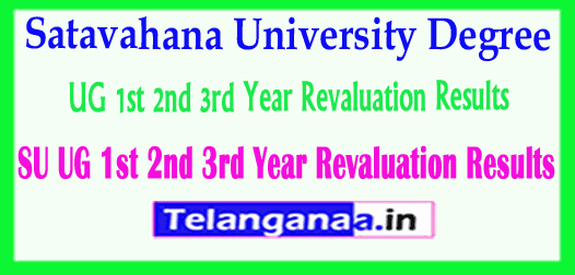SU UG Satavahana University Degree 1st 2nd 3rd Year Revaluation Results