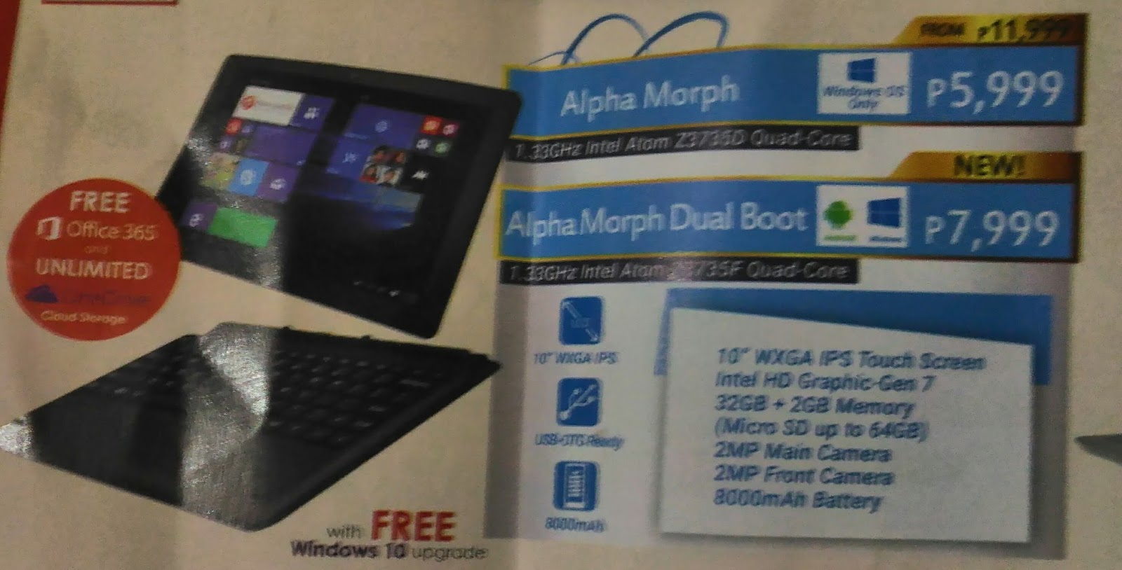 Cherry Mobile Refreshes Their Tablet Laptop Hybrid Morph By Giving It Dual Boot Running Android 4 Kitkat And Windows 8 1 Os