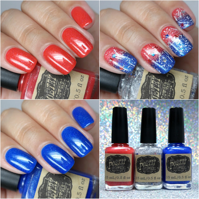 Poetry Cowgirl Nail Polish - Stars & Stripes Trio | 4th of July Collection