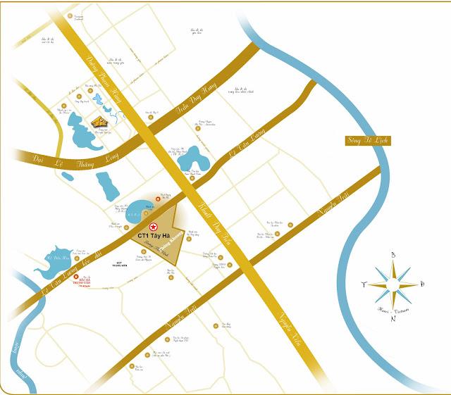 vị trí đắc địa chung cư Tây Hà Tower