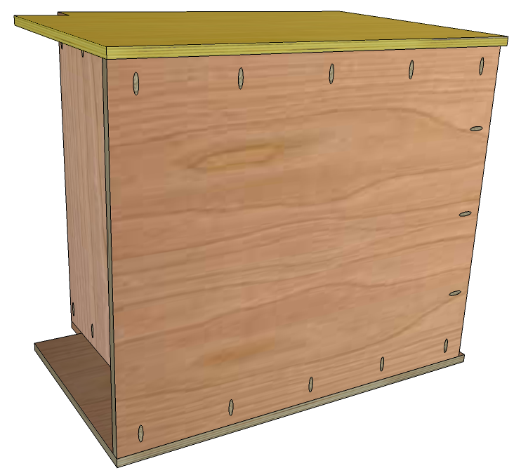 Attach The Other Side To The Cabinet Assembly Using The Previously Drilled  Pocket Holes In The Back And Bottom Pieces.