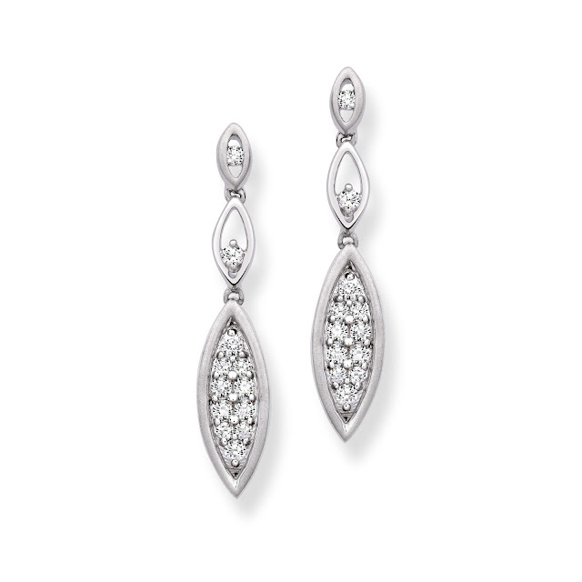 Platinum earring