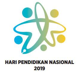Logo peringatan Hari Pendidikan Nasional Mendikbud 2019
