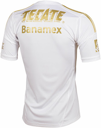 White   Gold Adidas Tigres UANL 2014 Third Kit - Footy Headlines f01d1a3ac