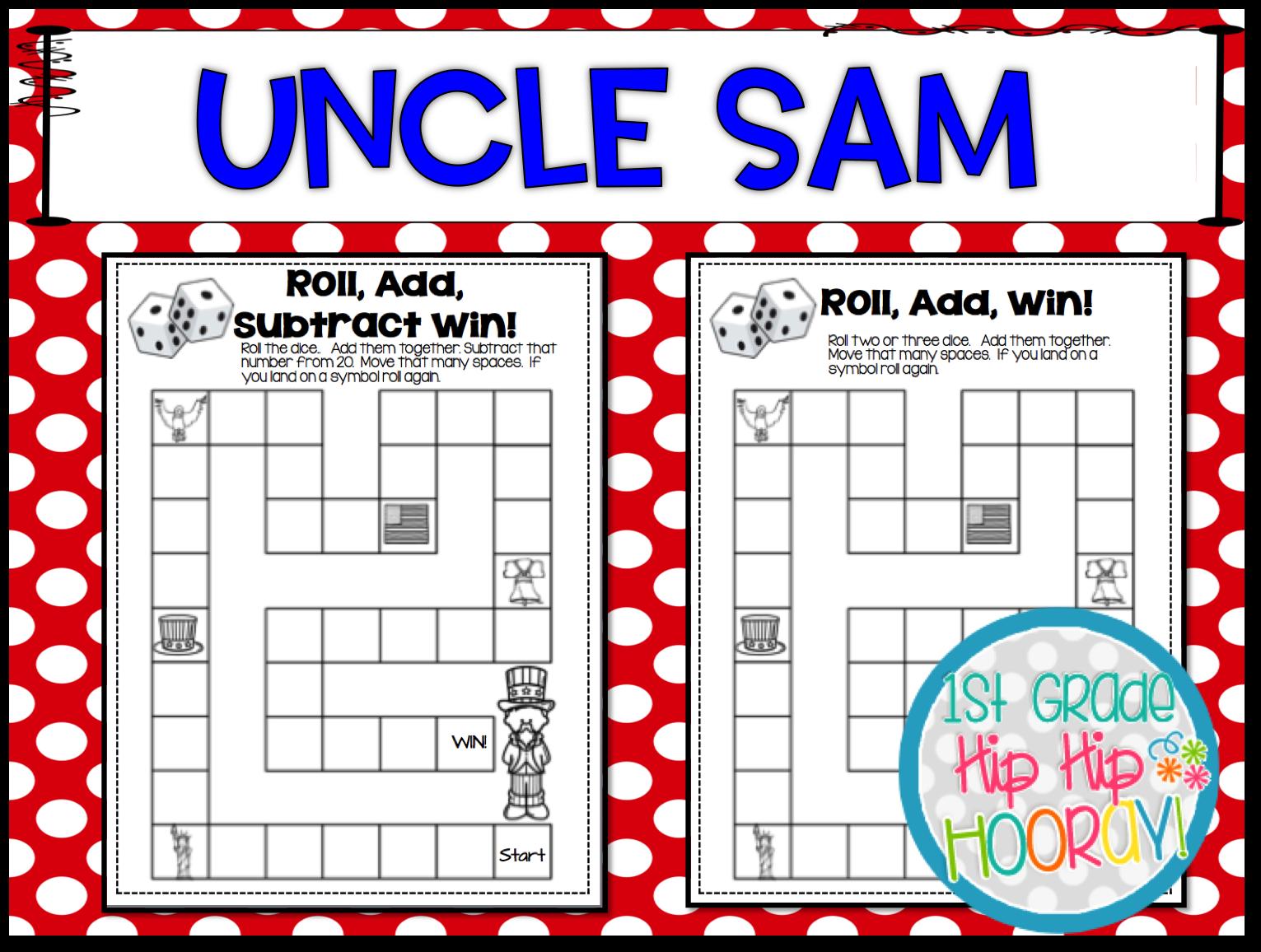 1st Grade Hip Hip Hooray Uncle Sam Day September 13th