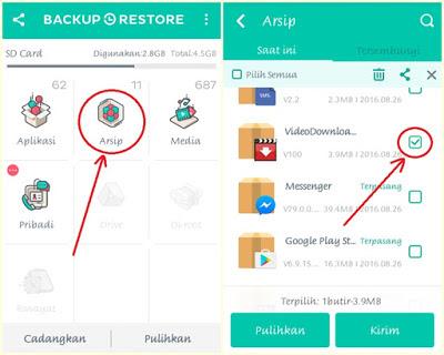 cara Restore aplikasi Hp android