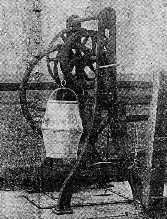 One of the wells at Welham Green.  Image from the Peter Miller collection, scanned by Mike Allen