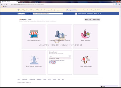 Creating Facebook Fan Page - Step 4