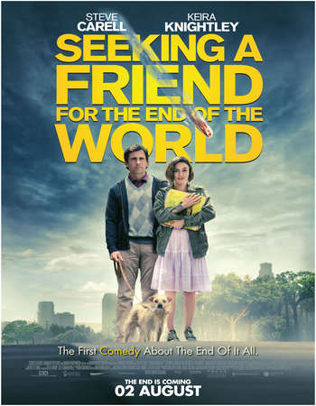 Poster Of Seeking a Friend for the End of the World 2012 Dual Audio 140MB BRRip HEVC Mobile Free Download Watch Online Worldfree4u