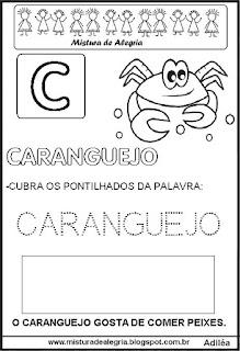 Bichonário desenho de caranguejo