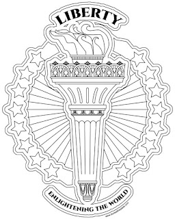 Liberty's Torch coloring page- available in jpg and transparent png
