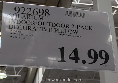Deal for Solarium Indoor/Outdoor Decorative Pillows at Costco