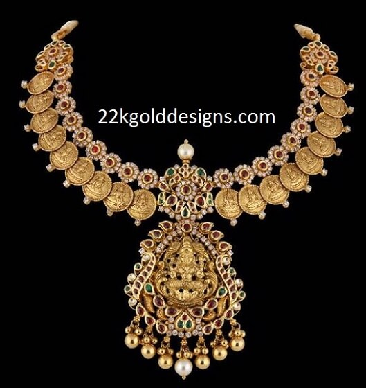 Laxmi Kasu Diamond Necklace