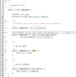 Sobre Carga de Construtores em Java