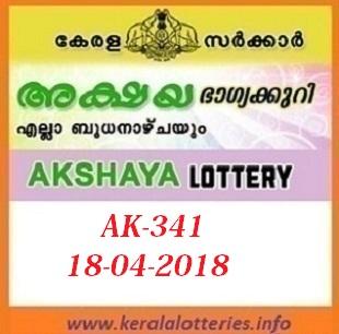 AKSHAYA AK-341 LOTTERY RESULT