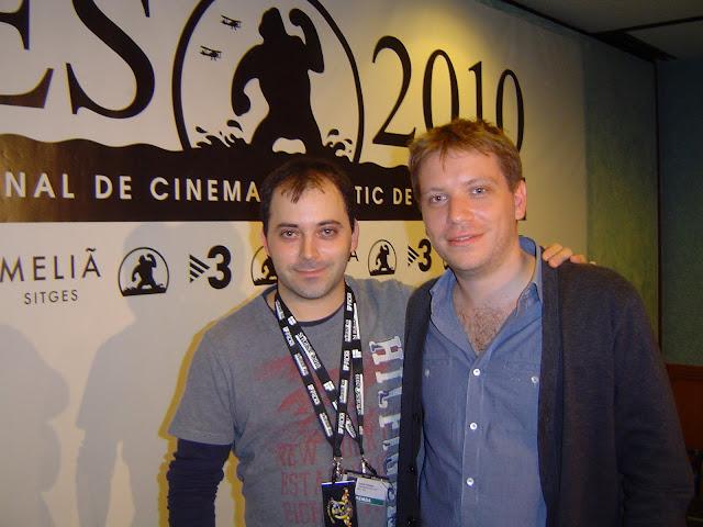 Aquí un servidor con Gareth Edwards en Sitges 2010