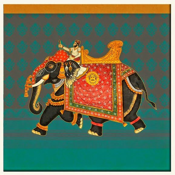 the east coast desi: India Circus Wall Art Collection