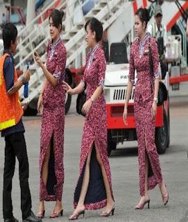 model baju batik pramugari airasia