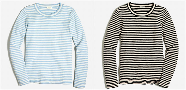 J. Crew Factory Mirostripe Teddie Sweater $21 (reg $70)