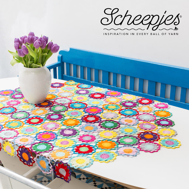 Scheepjes crochet tablecloth kit thecuriocraftsroom.blogspot.com