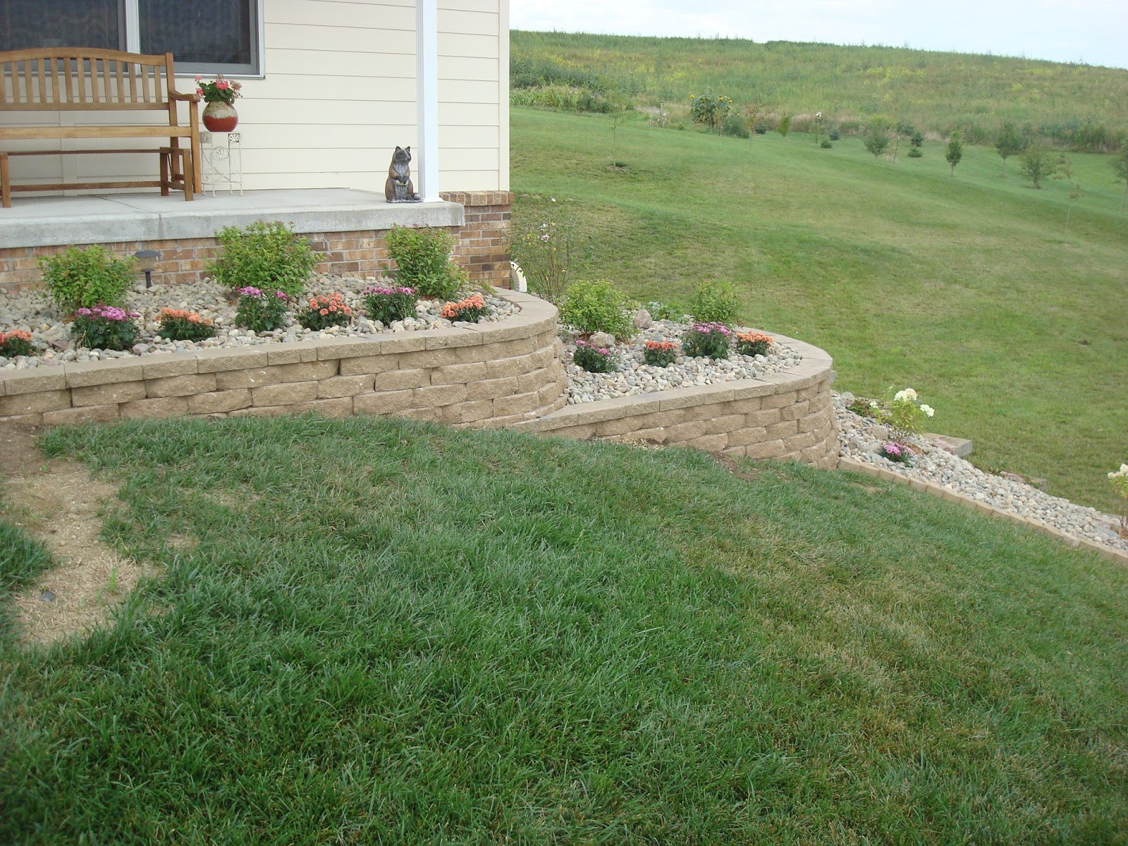 We Decided To Do A Two Tiered Retaining Wall