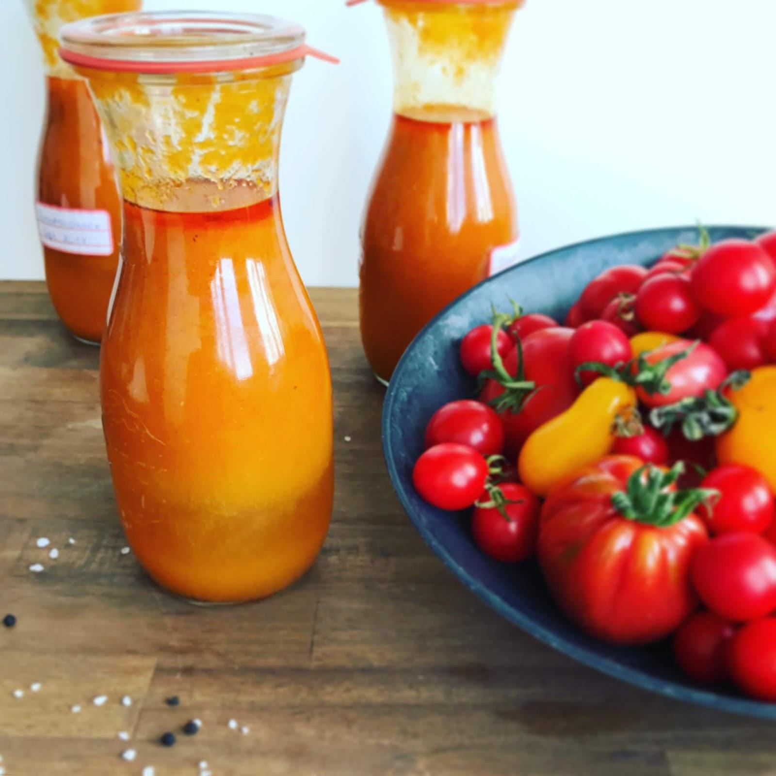 Ofengebackene Tomatensauce - Konservierter Sommer