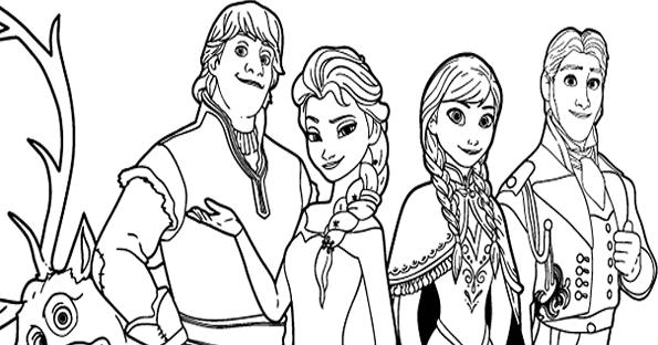 Frozen Dibujos Para Colorear E Imprimir: Dibujos De Frozen Para Colorear
