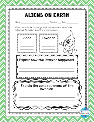 This form goes with a perfect text for teaching about ecosystem.  The form is a free download, and the mentor text is described on this post.