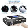 OCYCLONE 3D 1080P Portable Mini Projector, Mobile Pico Pocket Home Theater [ Wifi Wireless HDMI Bluetooth ] For iPhone and Android Phone LED DLP 3D 1080P HD Video For Office Business/ Entertainment