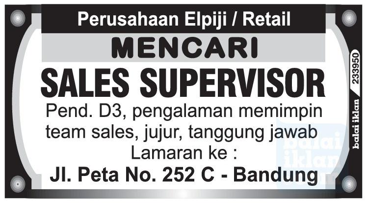 Lowongan kerja Perusahaan Elpiji/Retail Bandung Mei 2016