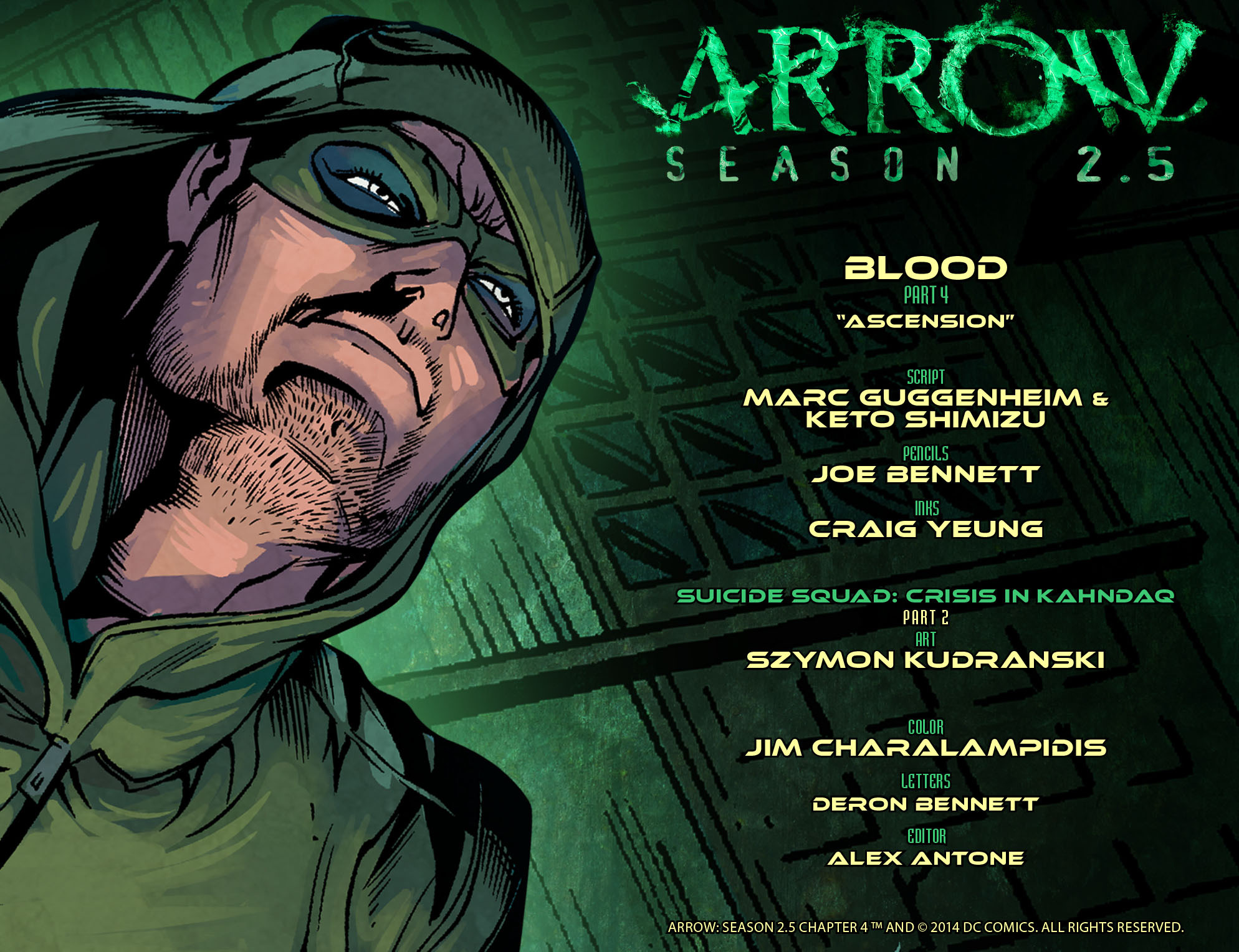 Read online Arrow: Season 2.5 [I] comic -  Issue #4 - 2