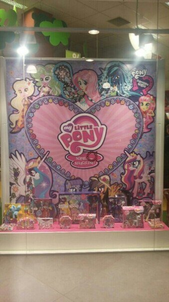 MLP Display with Flower Patterned Equestria Girls and Ponies